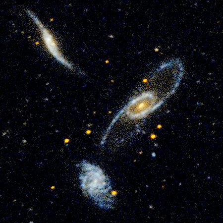 Galaxy Trio: NGC 5566, NGC 5560, and NGC 5569